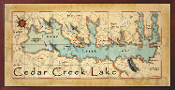 Cedar Creek Lake 16X32 canvas print