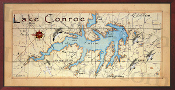 Lake Conroe 16X32 canvas print