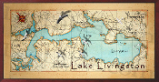 Lake Livingston 16X32 canvas print