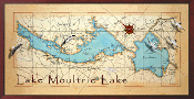 Lakes Marion & Moultrie 16X32 canvas print