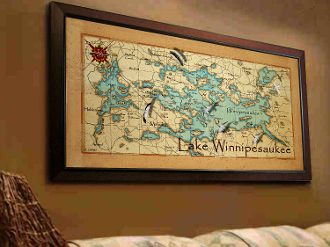 "20"" x 40"" Canvas Map Print"