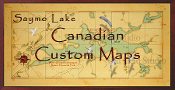 Custom Canadian Maps 16X32 canvas print