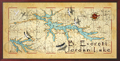 B. Everett Jordan Lake 16X32 canvas print