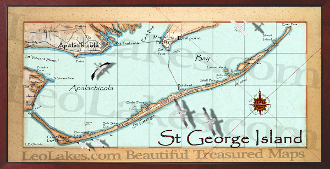 St George Island Map 16X32