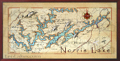 Norris Lake 16X32 canvas print