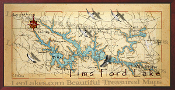 Tims Ford Lake 16X32 canvas print
