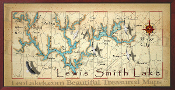 Lewis Smith Lake Overall Map 10x20