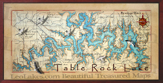Table Rock Lake 10x20 print