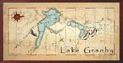 Lake Granby 16X32 canvas print