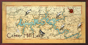Center Hill Lake Map 16x32