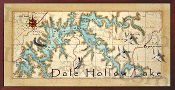 Dale Hollow Lake Map 16X32