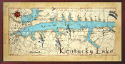 Kentucky Lake Map 10x20 print