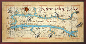 Kentucky Lake Overall Map 10x20 print