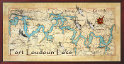 Fort Loudoun Lake 16X32 canvas print