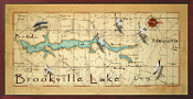 Brookville Lake 16X32 canvas print