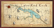 Lake Red Rock 16X32 canvas print