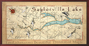 Saylorville Lake 16X32 canvas print