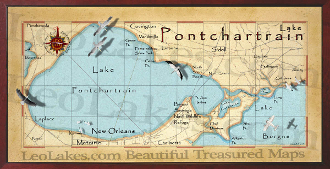 Lake Ponchantrain 16X32 canvas print