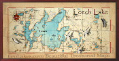 Leech Lake 16X32 canvas print