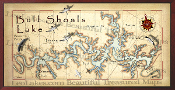 Bull Shoals Lake Map  16X32