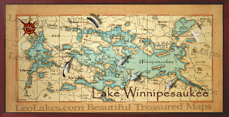 Lake Winnipesaukee decor map