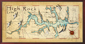 High Rock Lake 16X32 canvas print