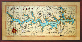 Lake Gaston Map Lake Gaston decor maps Lake Gaston Map