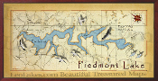 Piedmont Lake 16X32 canvas print