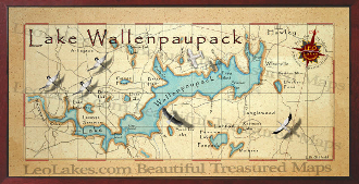 Lake Wallenpupack Map Up-grade