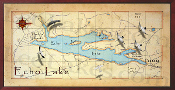 16x32 Echo Lake Decor Map Print