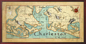 Charleston Harbor Map 10x20 print