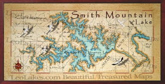 Smith Mountain Lake 16X32 canvas print