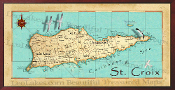10x20 St Croix Canvas Map Print