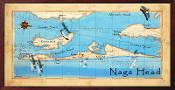 Nags Head Decor Map 16X32 canvas print