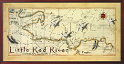 Little Red River Map 10x20 print