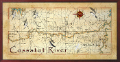 Cossatot River Map  16X32