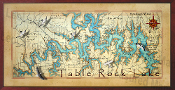 Table Rock Lake Map  16X32