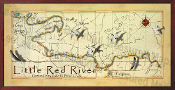 Little Red River Map  16X32