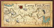 Caney Fork River Map 16X32 Map