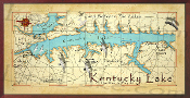 Kentucky Lake Map 16X32