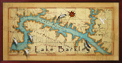 Lake Barkley Map 16X32