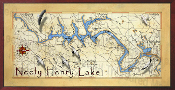Neely Henry Lake Map 10x20  print