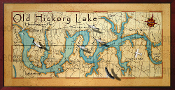 Old Hickory Lake Map 16X32