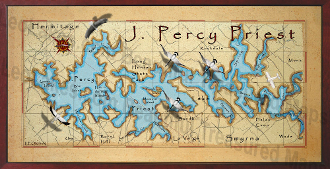 Percy Priest Lake Map 16X32