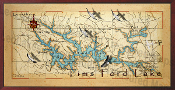 Tims Ford Lake Map 16X32