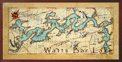 Watts Bar Lake Map 16X32