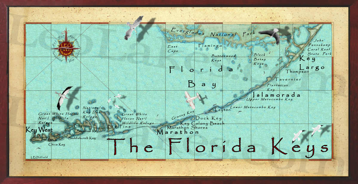 photo about Printable Map of Florida Keys referred to as Printable Map Of Florida Keys